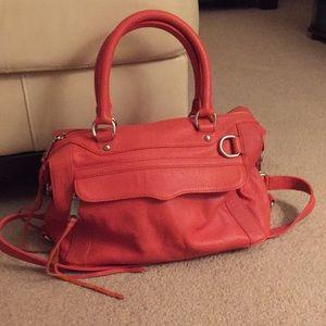 Rebecca Minkoff MAB Mini satchel- orange leather